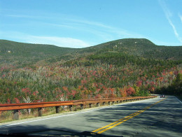 The Kancamagus Highway traverses the New Hampshire wilderness from Concord to Lincoln.
