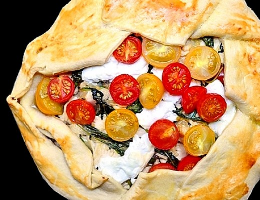 Tomato and Goat's Cheese Galette