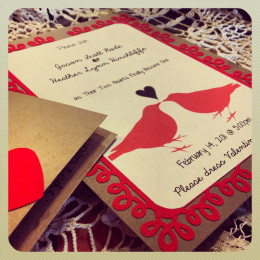 Invites with a Valentine flair