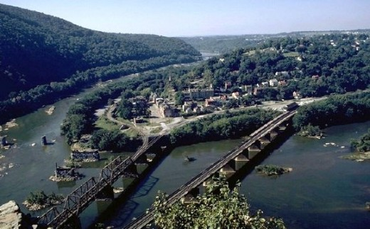 Harpers Ferry, as seen from Maryland Heights, Maryland