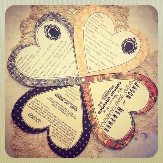 Heart Wedding Program