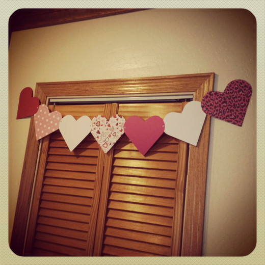Classic heart banners for your big day.