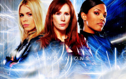 The three female companions of the 10th Doctor. Rose Tyler, Donna Noble, Martha Jones.