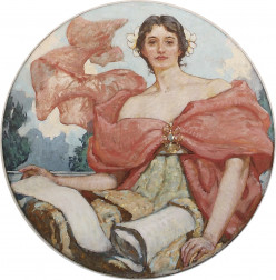 The thoughtful behavior of wisdom, a sagacious lady