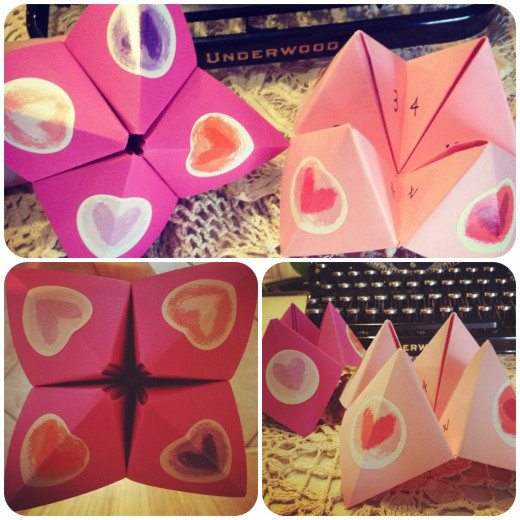handmade cootie catcher wedding favors