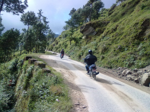 on the way to Kakani(Nepal)