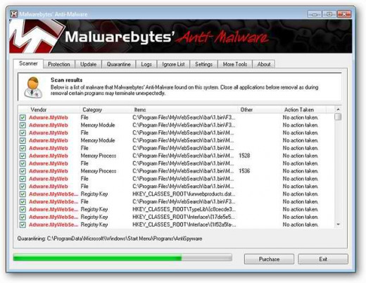 Malwarebytes Antimalware provides an interesting user interface and a strong core engine.
