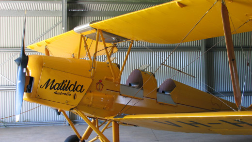 An old propeller plane, at Edwards Winery, Western Australia.