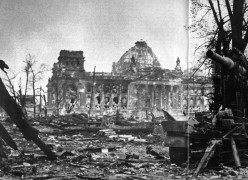 Reichstag after it was burnt