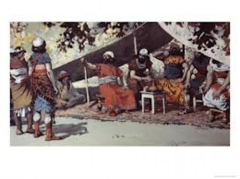 """Benhadad and The Kings Drinking In The Tent"" by James Tissot"
