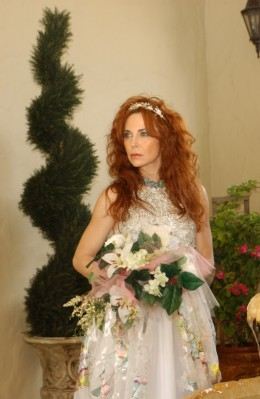 Bride in a bespoke wedding dress from Certain Style.