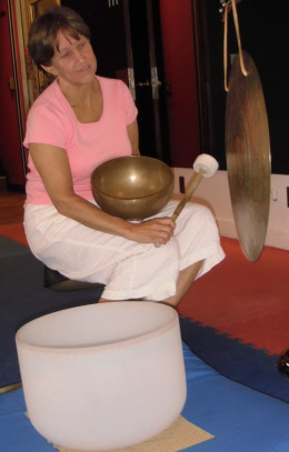 Audrey Meuse of Centennial Building Wellness Centre in Kamloops integrates sound into her healing practice.