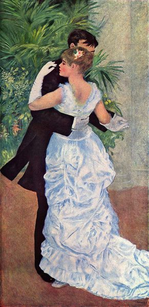 Dance in the city,(1882-83) by Pierre Auguste Renoir