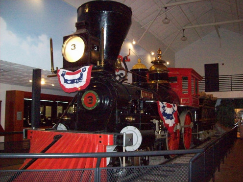 "The General, the Confederate train that was stolen in ""The Great Train Chase."""