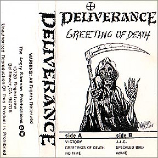 """Greetings of Death"" demo cover,1985"
