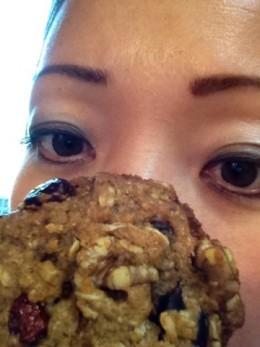 Vegan oatmeal cookies make me giddy!