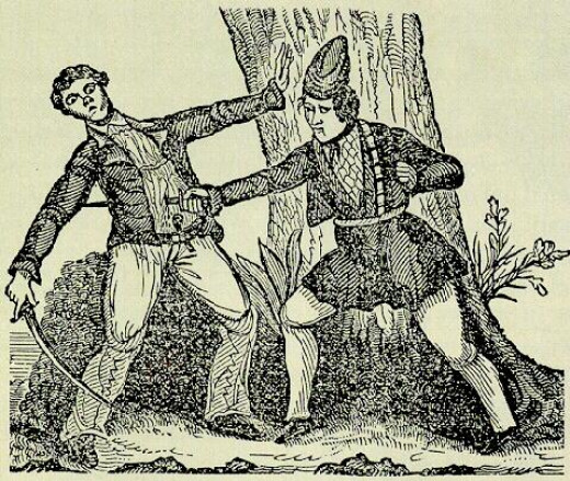 "This 18th century woodcut ""Mary Read Killing Her Antagonist"" by an unknown artist was uploaded to Wikimedia Commons by the Library of Congress Prints and Photographs Division."