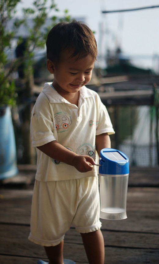 Project Light by Nusantara Development Initiatives aims to provide rural villages in Indonesia with sustainable sources of light, which is solar lamp. These villages fall outside the national electricity grid and are shrouded in darkness at night.