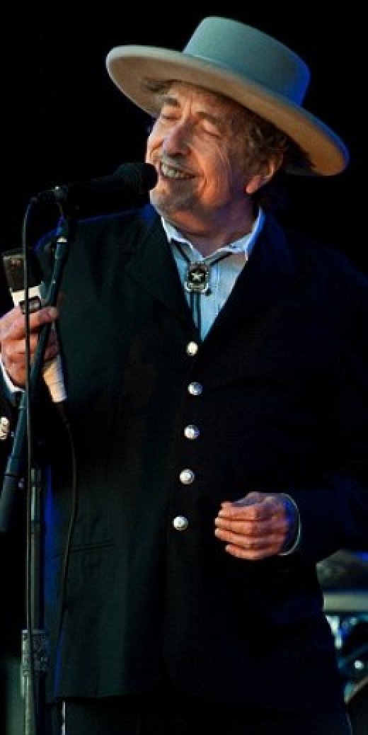 Bob Dylan at the Hop Farm festival in 2012