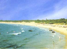 The famous Konark Beach in Odisha (Orissa)