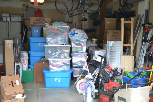 We are packing our garage now so that moving day will go quicker