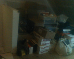 The left side of our attic will become an inspiring creative work space.