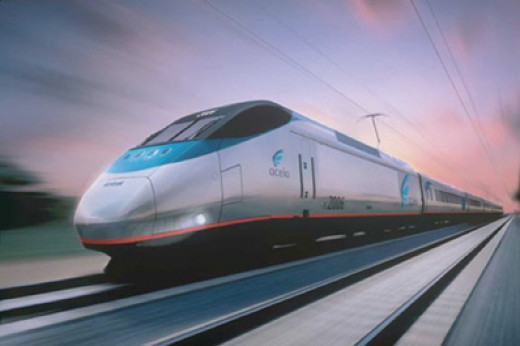 In the Northeast Corridor, Amtrak's popular Acela service provides a large chunk of transportation between Boston and Washington.