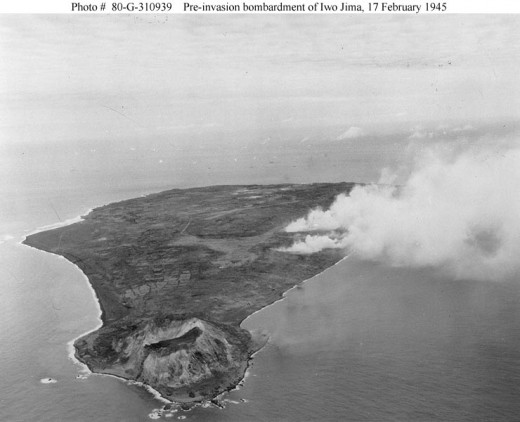 Picture taken 17 February 1945, just before the attack.  There are 22,000 Japanese hidden here.