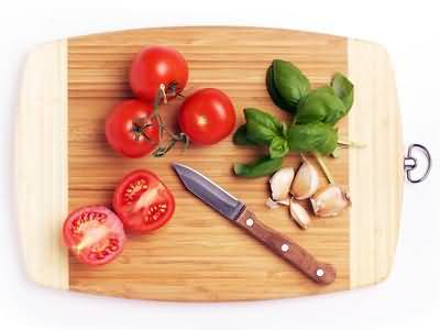 We use our cutting board for many purposes.