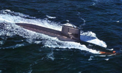 USS Washington US's first nuclear powered missile launching submarine