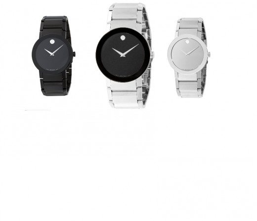 Movado Men's Sapphire Stainless-Steel Watch PVD Black - 606307 Classic - 606092 Mirror Dial  -  606093