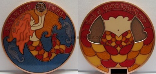 Cute mermaid geocoin