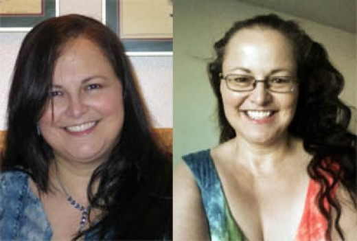 On the left, me at my highest weight of 307lbs. On the right, me, taken this morning (Sept. 2/12) just over 50lbs lighter! I can see the positive change of thoughts in my eyes!