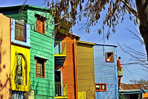 Many immigrants frequented this Buenos Aires district, known as La Boca.
