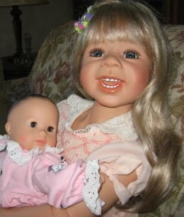 Dolls are the beginning to motherhood at a young age. Yearning to be a mom begins as a child.
