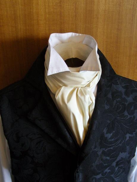 A cream Ascot Tie