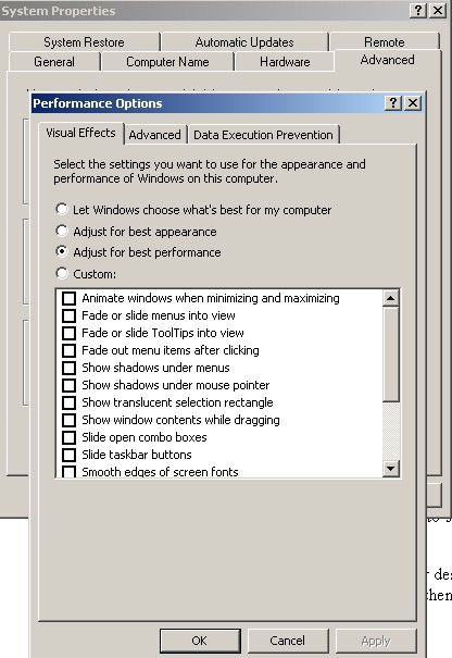 Fig 4. Visual Effects Tab