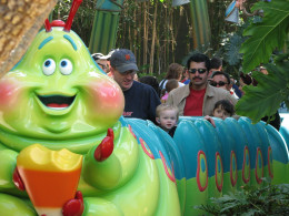 Some rides, like Heimlich's Chew Chew Train, are aimed at the very young.