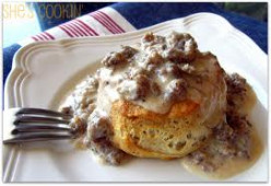 Easy Biscuits with Sausage Gravy