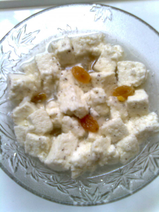 Cottage Cheese/ Paneer low calorie dessert