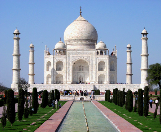 Taj Mahal, One of the seven wonders in the world, situated on the banks of the Yamuna River, Agra