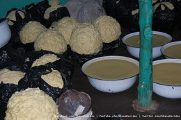 Not-so-glamorous Shea Butter ready for processing.