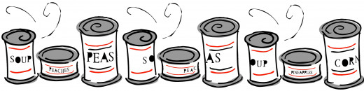 Most canned goods are lined with BPA which can break down and cause many health issues.