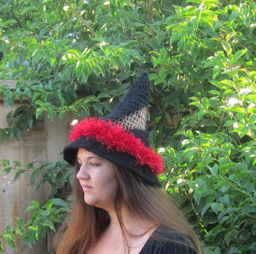 Black and red Witch hat