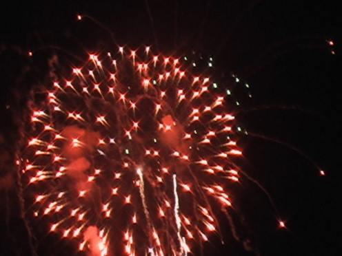 Fourth of July fireworks
