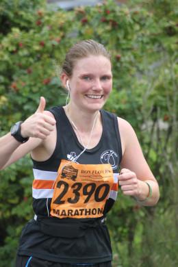 Keep smiling during that marathon.  Photo from the 2012 Wolverhampton Marathon