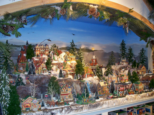 Village display at the Incredible Christmas Place.