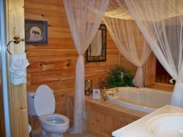 bathroom with whirlpool tub