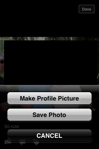 """Tap """"Make Profile Picture."""""""
