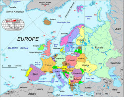 Map of Europe - yep - there's Poland!